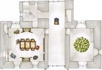 Stadskasteel Zaltbommel - plattegrond begane grond